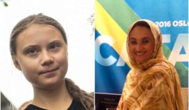 Greta Thunberg y Aminetu Haidar, ganadores del Premio Nobel Alternativo