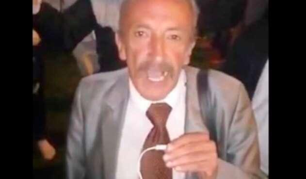 Hernando Chávez, representante de una organización de conductores de Colombia