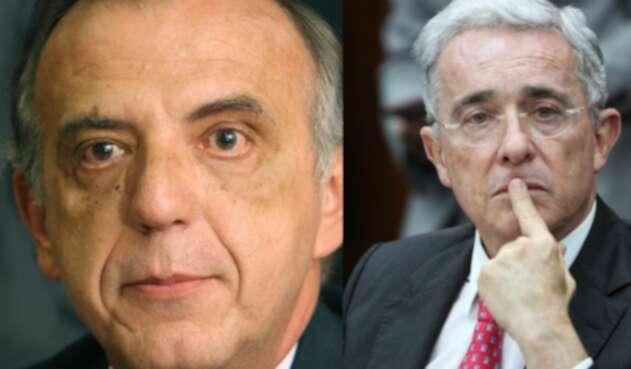 Iván Velásquez y Alvaro Uribe