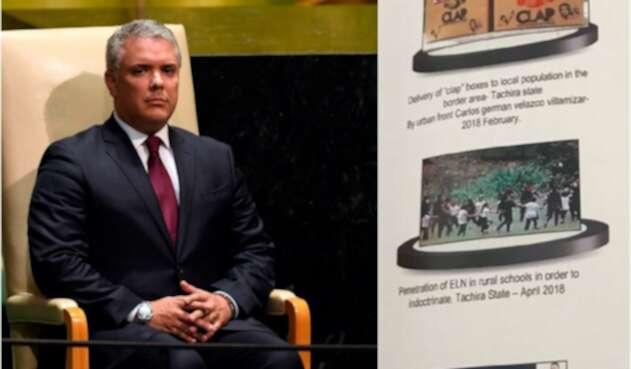 El presidente Iván Duque y las fotos que presentó en la ONU, en Nueva York (Estados Unidos)