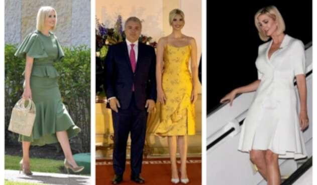 Así vistió Ivanka Trump en Colombia