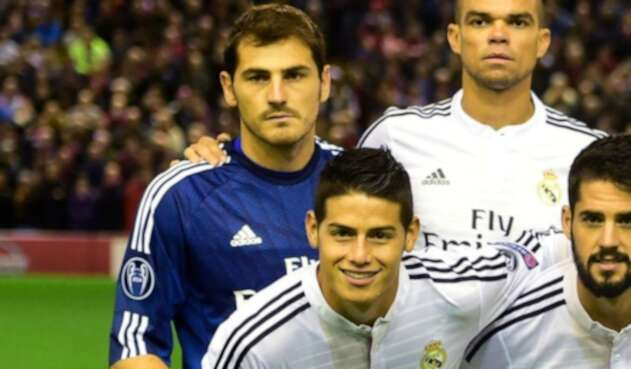 Iker Casillas y James Rodríguez