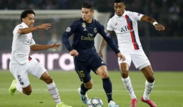 James Rodríguez, Real Madrid ante PSG