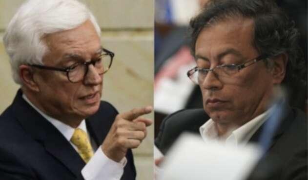 Jorge Enrique Robledo y Gustavo Petro
