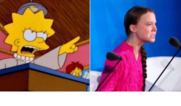 Lisa Simpson y Greta Thunberg