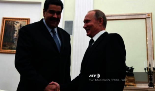 Nicolás Maduro con Vladimir Putin