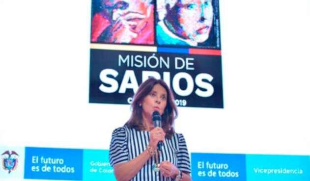 Marta Lucía Ramírez, vicepresidenta de la República, en la Segunda Cumbre de la Misión Internacional de Sabios desarrollada en Cartagena
