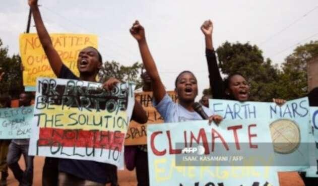 Movilizaciones en el mundo contra el Cambio Climático