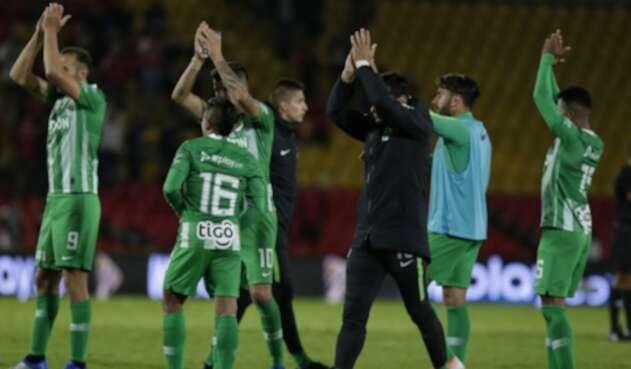 Atlético Nacional celebrando un triunfo