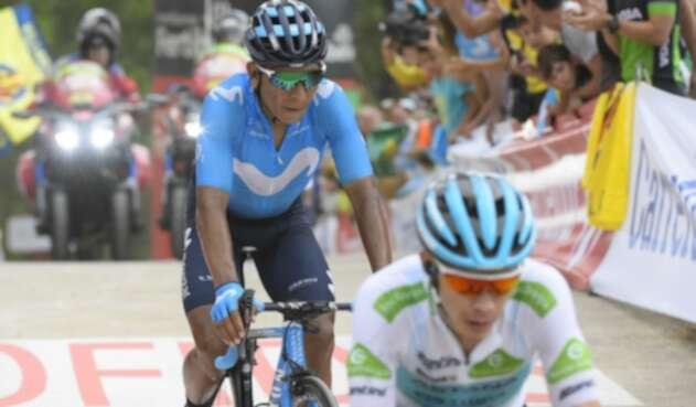 Nairo Quintana y Miguel Ángel López, ciclistas colombianos