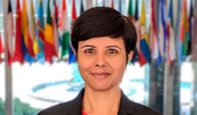 Namita Biggins, vocera del Departamento de Estado de Estados Unidos