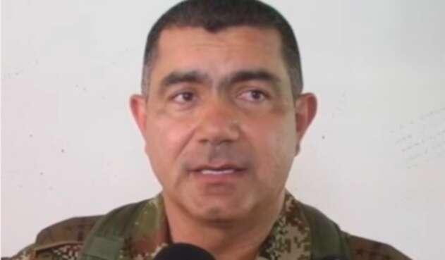 El general Oswaldo Peña, saliente director del Departamento Conjunto de Inteligencia y Contrainteligencia de las Fuerzas Militares