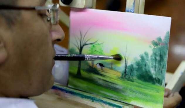 Pintores con discapacidad