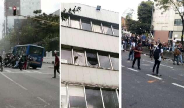 Protestas en cinco universidades de Bogotá
