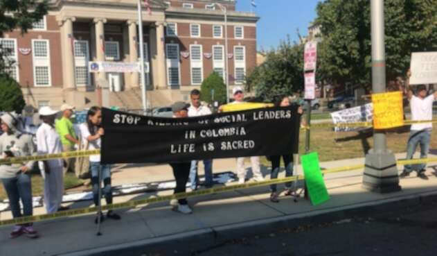 Protestas contra Duque en Estados Unidos