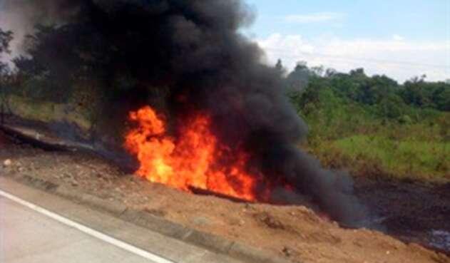 La explosión en el Oleoducto Oso, en Putumayo