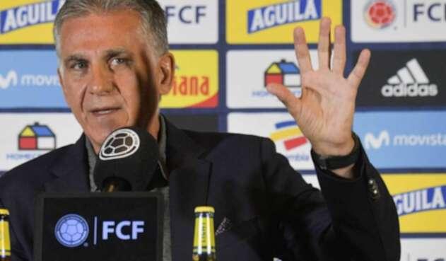 Carlos Queiroz , DT de la Selección Colombia.