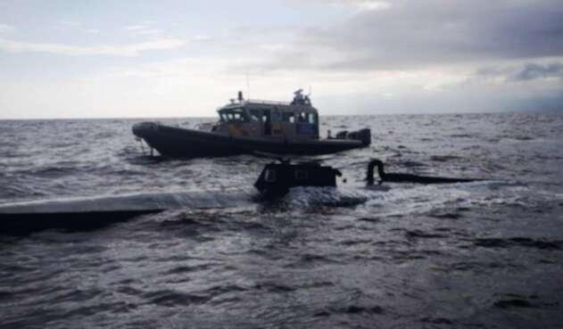 El Semisumergible fue interceptado en agua del Pacífico Colombiano