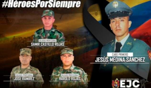 Los soldados asesinados en el Bajo Cauca antioqueño