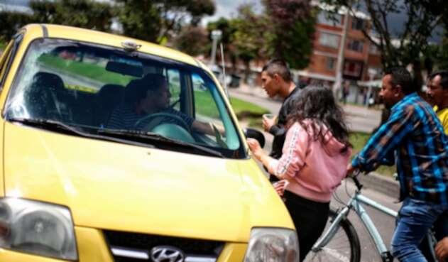Taxistas en la ciudad de Bogotá