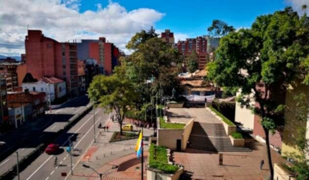 Panorámica de la Universidad Javeriana, en Bogotá