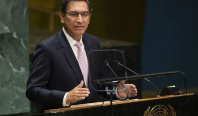 Martin Vizcarra, presidente peruano, ante la ONU