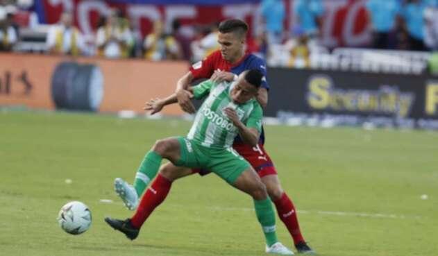 Vladimir Hernández, jugador de Nacional vs Medellín