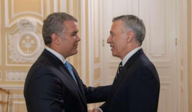 Philip Golberg, embajador de EE.UU presenta cartas credenciales ante Duque