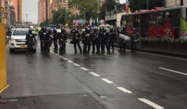 Disturbios en inmediaciones de la Universidad Distrital