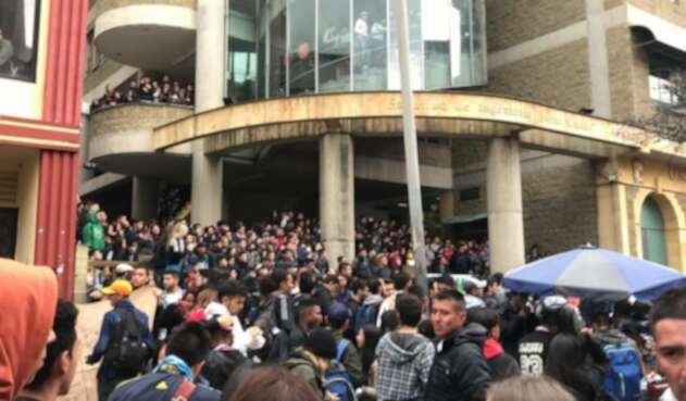 Concentración en la Universidad Distrital de Bogotá.