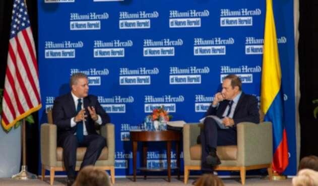 Presidente Duque en conversatorio con el Nuevo Herald