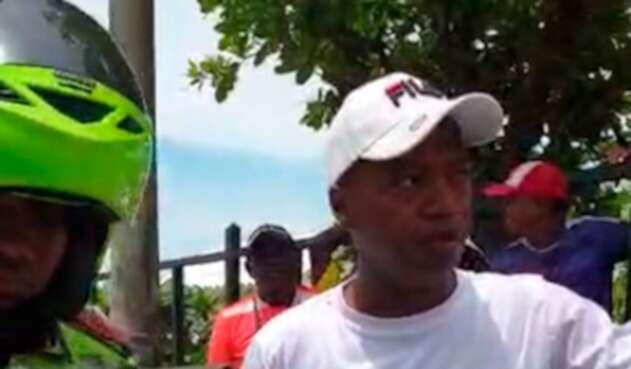 Wilman Herrera Imitola, candidato a la Alcaldía de Cartagena, tras ser sancionado por la Policía