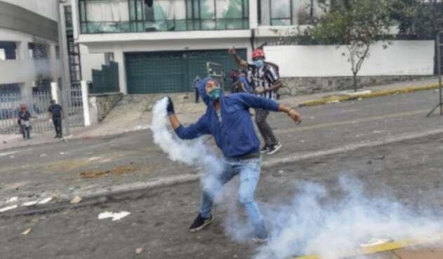 Protestas ecuador vandalismo