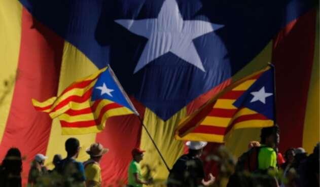 Protestas en Cataluña exigiendo la independencia de España.
