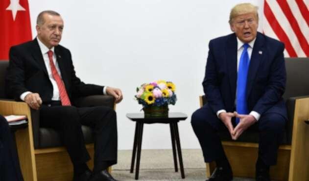 Recep Tayyip Erdogan, presidente turco, y su par estadounidense, Donald Trump