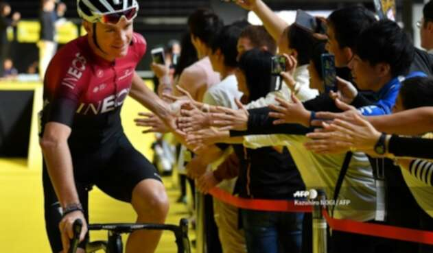 Chris Froome en el Critérium de Saitama