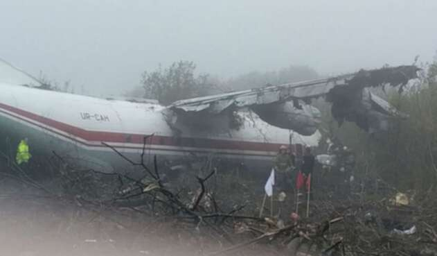 Accidente de avión en Ucrania