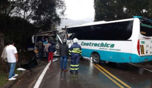 Accidente en la vía Sogamoso-El Crucero deja 22 herido.