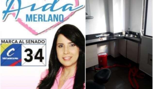 La excongresista Aida Merlano y el consultorio del cual se fugó, en Bogotá