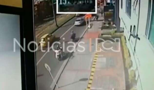 Aida Merlano movilizándose por el norte de Bogotá luego de su fuga