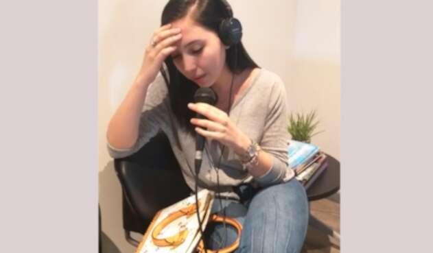 Aida Victoria Merlano en la entrevista concedida a LA FM en Barranquilla