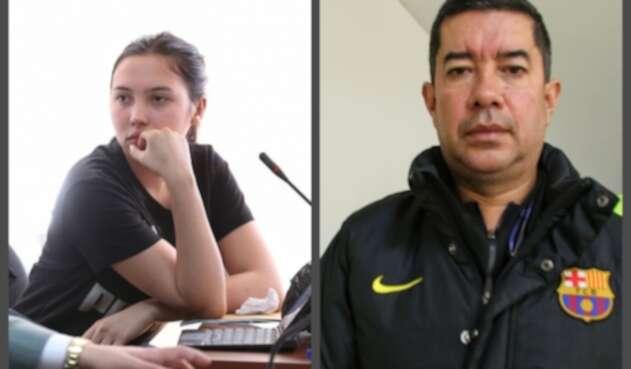 Aida Victoria Merlano y el odontólogo Javier Cely