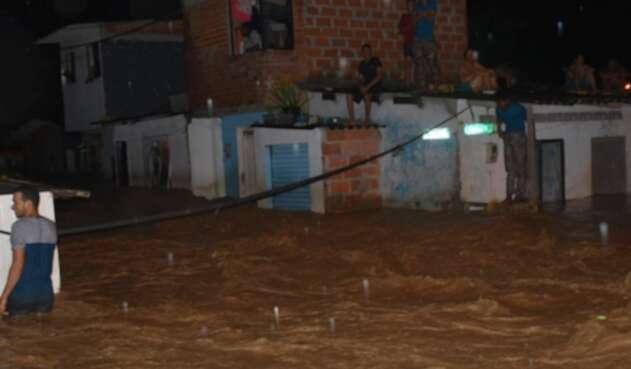 Desbordamiento del río Apartadó.