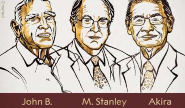 John Goodenough, Stanley Whittingham y Akira Yoshino