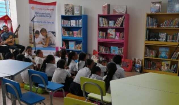 Biblioteca en Colegio de Amazonas