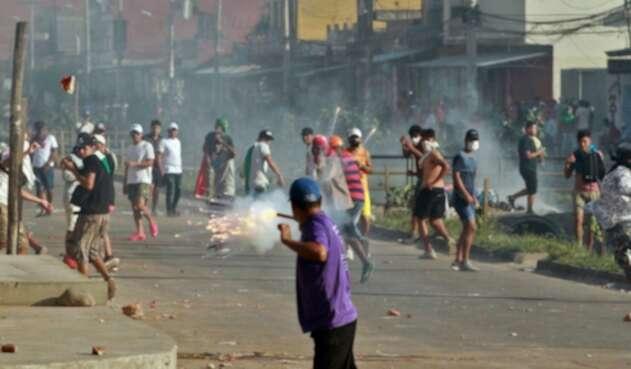 Protestas en Bolivia tras la reelección de Evo Morales.