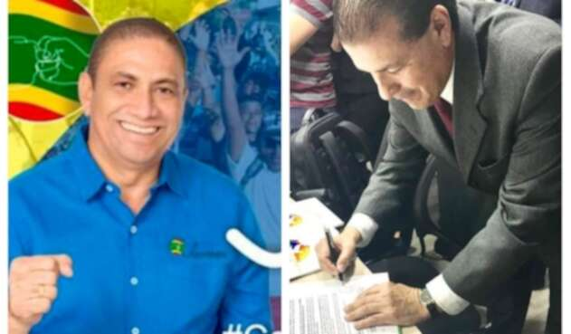 Juan Mejía, candidato a la Asamblea de Bolívar, y Luis Daniel Vargas, aspirante a la Gobernación del mismo departamento
