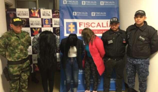 Las mujeres detenidas por la Fiscalía General de la Nación por ingresar estupefacientes a las cárceles
