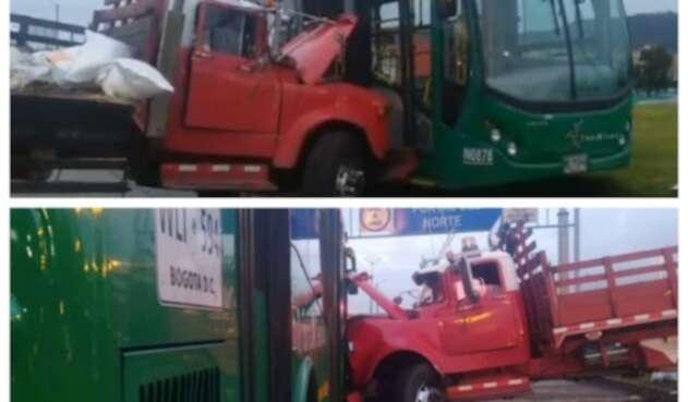 Accidente en la Autopista Norte de Bogotá