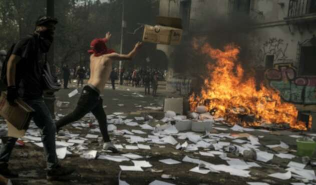 Violentas protestas en Chile